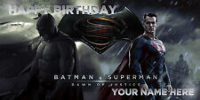 Birthday banner Personalized 6ft x 3 ft  Batman Vs Superman, DC