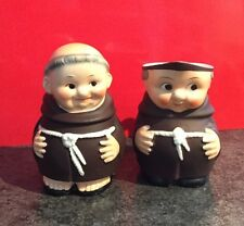 Vintage Goebel Friar Tuck Cream & Sugar - West Germany