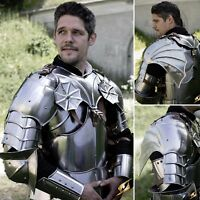 For LARP Or Re-enactment. Gothic Gorget And Winged Shoulders - Fantasy Look