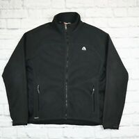 Mens Vintage NIKE ACG Black Jacket Fleece Top Size L