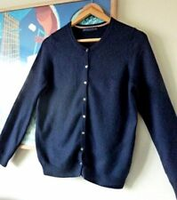 Womens M&S COLLECTION navy 100% pure cashmere cardigan .  Size 10 12