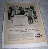 Vintage Original Advertising AD Art Print 1968 MAYTAG & Lennon Sisters Family