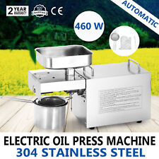 460W Automatic Oil Press Machine Oil Press Pure Oil Cold Hot Press Nut Seeds