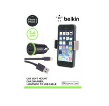 Belkin Car Vent Mount Charger Lightning USB Cable Apple iPhone  X XR XS XS MAX