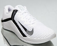 Nike Metcon 6 Men's White Black Gym Cross Training Shoes Athletic Sneakers