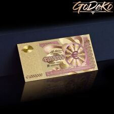 1000000 Euro Gold Banknote Sonderedition Geldschein Note 1 Million Goldfolie b