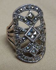 STERLING SILVER RING COVERED IN RHINESTONES