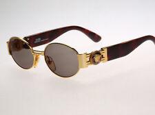 Vintage GIANNI VERSACE Oval Tortoise & Gold Logo Sunglasses MOD S72 COL 31L