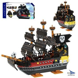 Kawada Nanoblock Deluxe Pirate Ship Micro Block Model Building Set 3280 Pcs