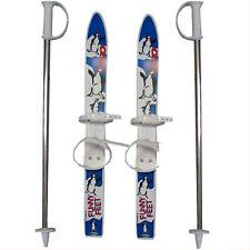 V3TEC Kinder-Rutscher Einsteiger-Ski Kunststoff Kinder-Ski Anfänger-Set & Stöcke