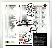 Multi Signed Programme Middlesbrough V Hull City Plus Ticket