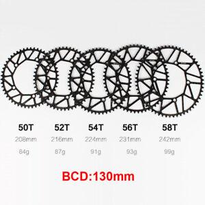 Litepro CNC Lightweight 50t/52t/54t/56t/58t 130bcd Narrow Wide Bike Chainring