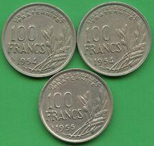 France 1954, 1954 & 1955 100 Franc Coins