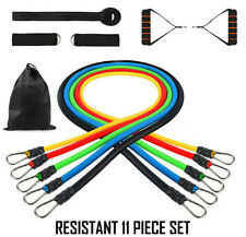 Resistant Bands Workout Exercise Yoga 11 Piece Set Crossfit Fitness Tubes - New