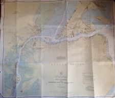 ORIG 1943 KILL VAN KULL & NORTHERN PART OF ARTHUR KILL STATEN ISLAND MAP NY