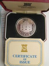 Macao 1978 Grand Prix Race Car 100 Patacas Silver Coin,Proof,With Box COA