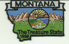 MONTANA STATE MAP Embroidered Patch