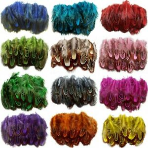 50pcs 2-3 inches/5-8 cm natural pheasant feathers for making DIY handmade crafts