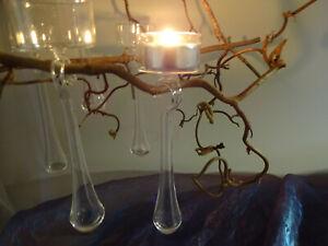 6er Set Balancekerzenhalter Pendelkerzenhalter Baumkerzenhalten Teelicht Glas