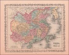 CHINA, Fine Charles Desilver Map, Original 1857