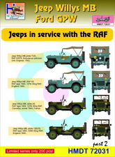 H-Model Decals 1/72 Willys Jeep MB/Ford GPW: RAF Jeeps Part 2 # 72031