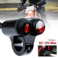 7/8'' 22mm Motorcycle Handlebar Headlight Fog Spot Light Dual on off Switch 12V