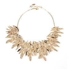 Amrita Singh Gold Bravos Statement Large Bib Necklace NKC 1575 NWT