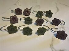 Set of 12 Floral Shower Curtain Hooks Use 1 Month