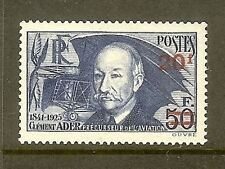 """FRANCE STAMP TIMBRE N° 493 """" CLEMENT ADER SURCHARGE 20F SUR 50F """" NEUF xx TTB"""