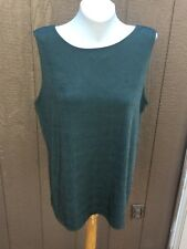 New Chico's Travelers Fatigue Cross Dye Olive Reversible Tank Top 3 XL 16 18 NWT