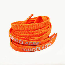 "Schnürsenkel ""SHOELACES"" orange – Flats 120 cm OFF WHITE Air Max 1 90 97 OW"