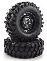 "Apex RC Products 1.9"" Black ""K1"" Wheels + 108mm ""Muncher"" Crawler Tires #6150"