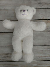 "Build a Bear White Bear with Opalescent Strands Hannah Montana 18"" Plush Soft"