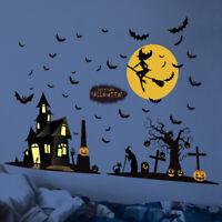 Halloween Party Wall Sticker Art Vinyl Decal Mural Shop Window Home Decor DIY