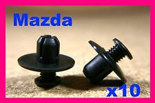 10 MAZDA splash guard trim clips wheel arch linining fasteners mud flap guard