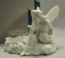 PartyLite P7135 Ariana Fairy Blowing Kiss Bisque Porcelain Candle Holder