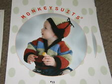 Monkey Suits Knitting Pattern Big Stripes Sweater Hat 6m to 12y