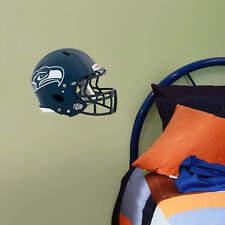 "Seattle Seahawks Helmet Vinyl Fathead Wall Graphics 11"" X 9"" poster sticker"