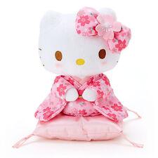 New! Hello Kitty Kimono Sitting Plush Doll Stuffed Sanrio Pink Japan F/S