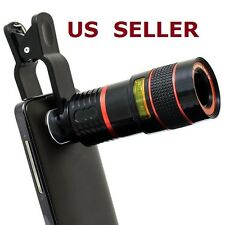 8x Zoom Telescope Lens Clip On Photography For Mobile Phone SmartPhone iPhone