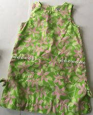 Lilly Pulitzer Girl's Skip On it Green and Pink Floral Sundress Sz 4T