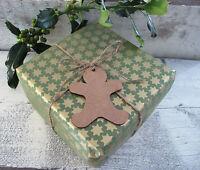 Wooden MDF Christmas Gingerbreadman Shape Garland Bunting Decoration Gift Tag