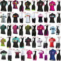Summer Womens Cycling Jersey And Bib Short Set Short Sleeve Womens Cycling Set