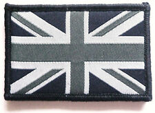 UNION JACK CLOTH PATCH Great Britain UJ velcro flag badge Team GB black & white