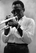 Miles Davis Poster, Wearing Sunglasses, Playing the Trumpet, Jazz Legend