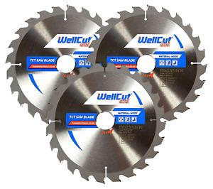3 x WellCut Circular Saw TCT Blade 200mm x 24T x 30mm Bore For Festool, Bosch
