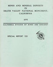 Death Valley gold & silver mines, Inyo County, Calif, 1st ed. report, maps, VG !