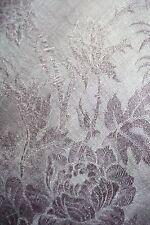 Châle carré franges Napoléon III  couleur parme décors Roses shawl square shape