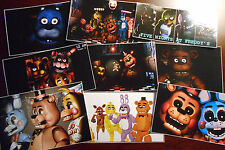 9 Five Nights at Freddy's inspired Stickers, Birthday Party Favors, Labels,FNAF