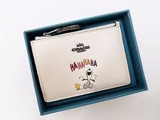 Coach x Peanuts 16108B Boxed Snoopy Mini Skinny ID Case Wallet Chalk NWT